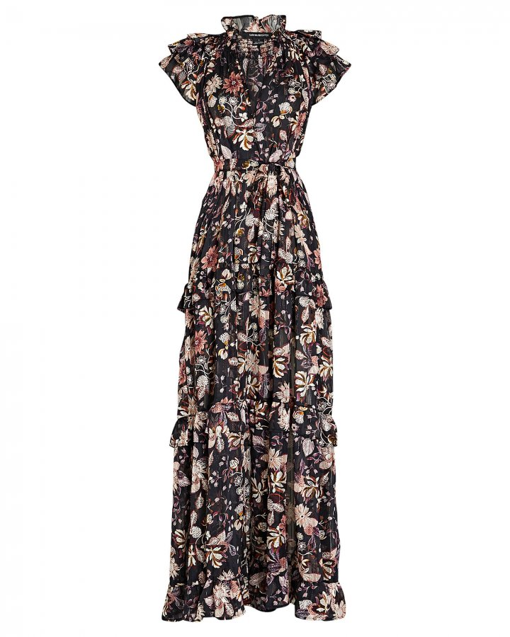 Gia Floral Chiffon Maxi Dress