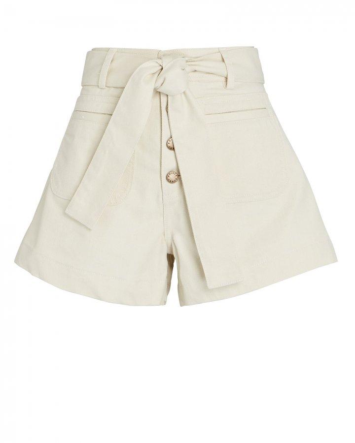 Marston Tie-Waist Denim Shorts