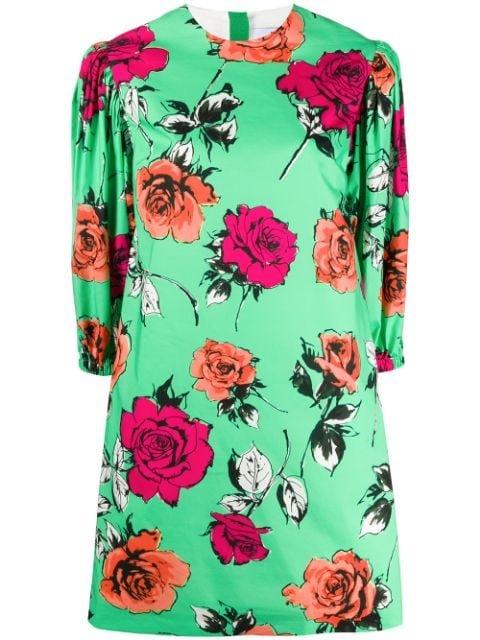 MSGM Floral Mini Shift Dress