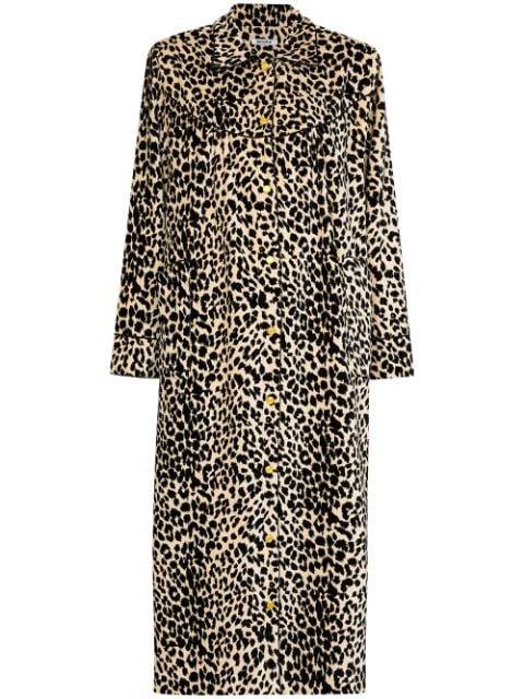 Batsheva House leopard-print Velvet Coat