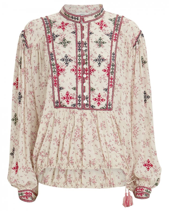 Ivayo Embroidered Floral Blouse