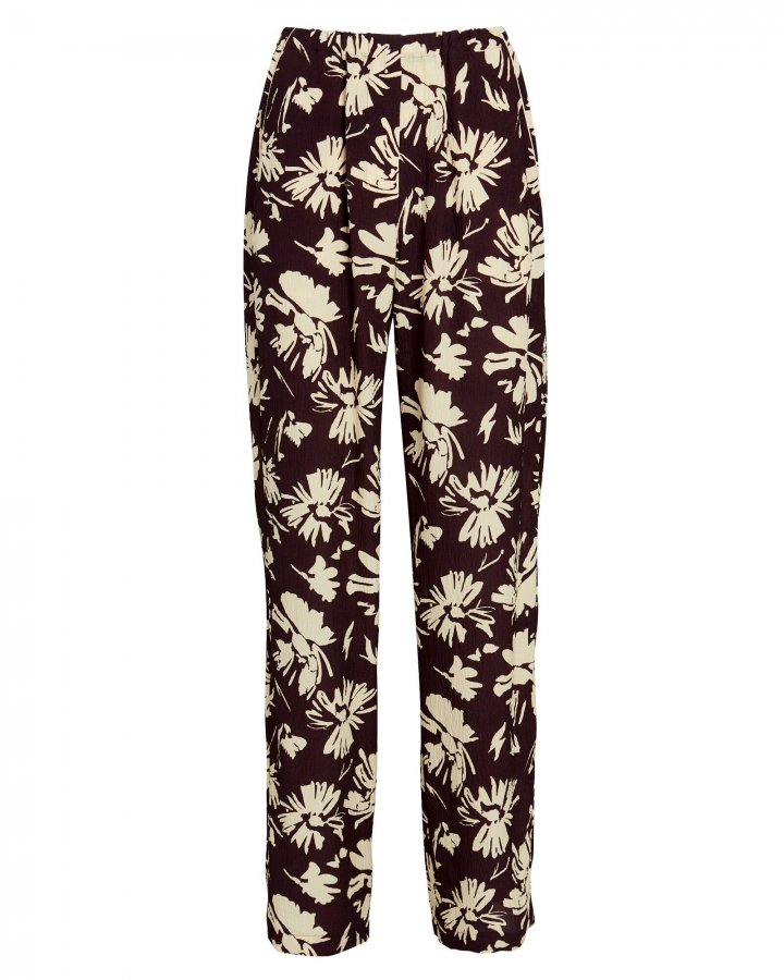 Kyra Floral Wide-Leg Pants
