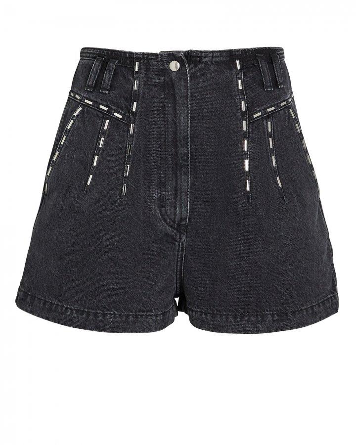Barra Embellished Denim Shorts