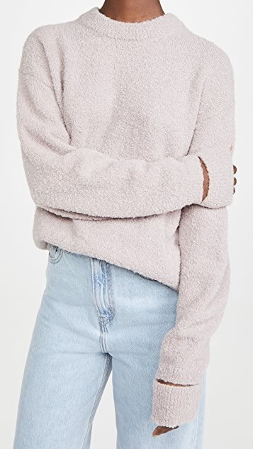 Slit Cuff Easy Pullover