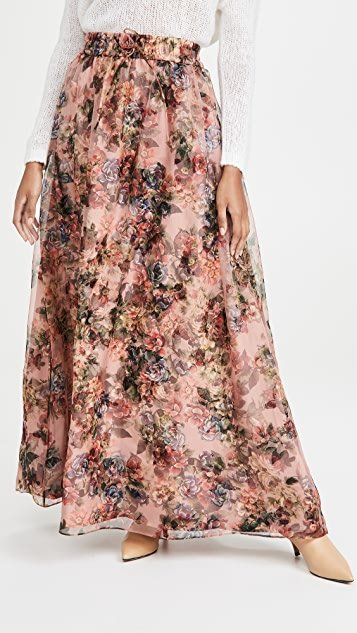 Dixie Drawstring Gown Skirt with Train