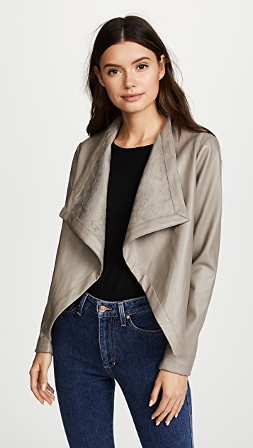 Peppin Vegan Leather Drapey Jacket