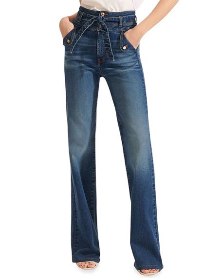 Giselle High-Rise Skinny Flare Jeans