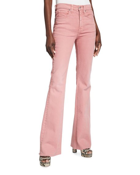 Beverly Skinny Flare Jeans With Raw Hem
