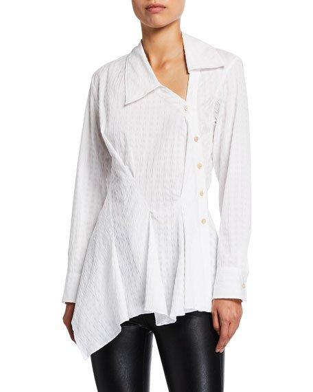 Enata Asymmetric Button-Down Shirt