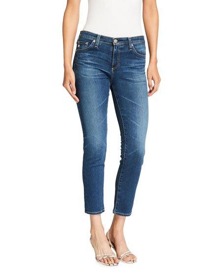 Prima Mid-Rise Cropped Denim Skinny Jeans