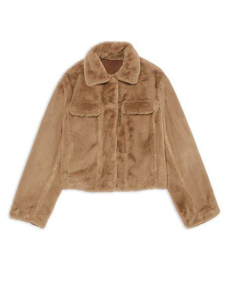 Faux Fur Trucker Jacket