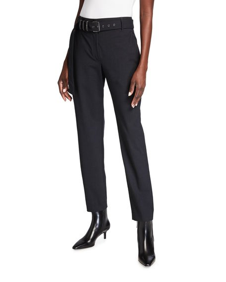 Tropical Wool Pants with Monili Belt Loops