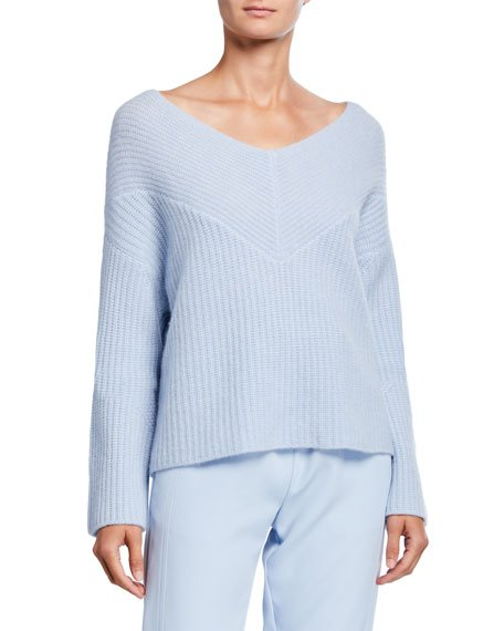 Cashmere Wide-Neck Sweater