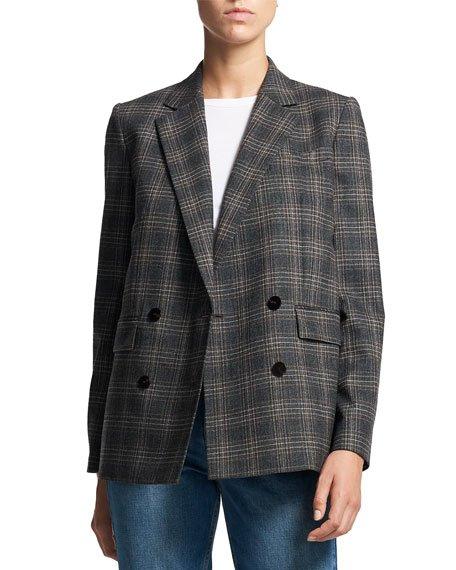 Piazza Plaid Wool Jacket