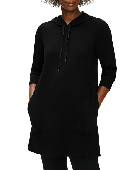 Organic Cotton Stretch Jersey Hooded Dress