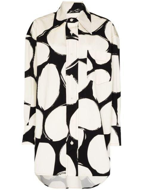 Marni Polka Dot Oversize Shirt