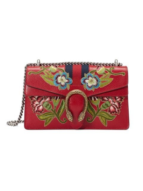 Gucci Dionysus Embroidered Leather Shoulder Bag Aw17 | Farfetch.com