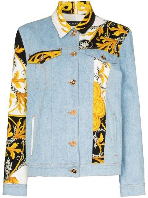 Versace Baroque Patchwork Denim Jacket