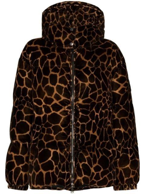 Moncler Kundogi Leopard-Print Puffer Jacket Aw20 | Farfetch.Com
