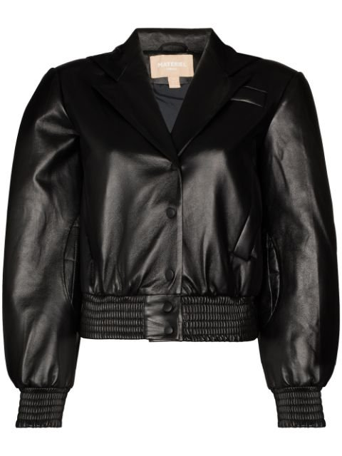Materiel Quilted Faux Leather Jacket