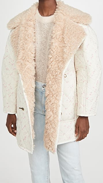 Floral Jacket with Sherpa