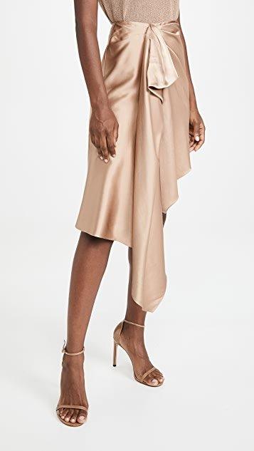 High Waisted Asymmetrical Skirt