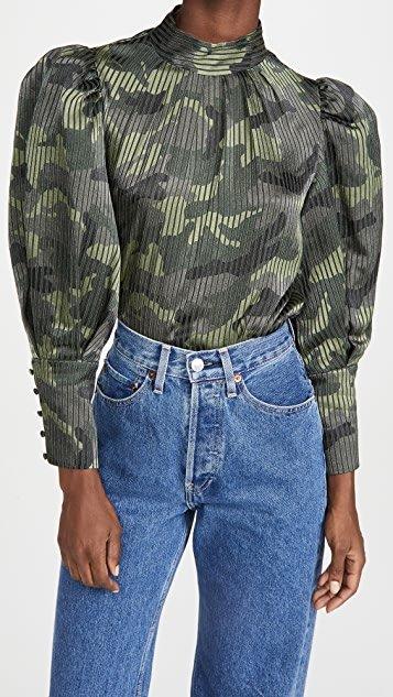 Winslet Long Cuff Tunic Blouse