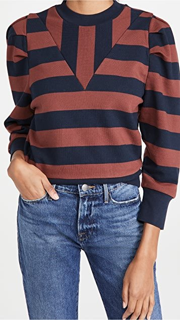 Rugby Shirred Sweatshirt