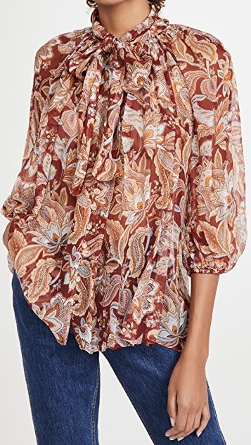 Charm Fluted Blouse