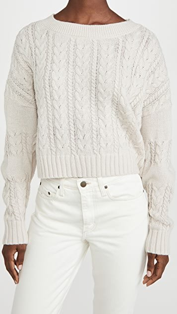 Isn\'t She Cute Cable Knit Crop Sweater