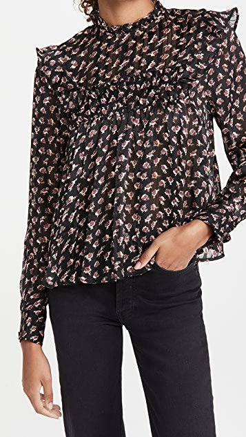 Drapey Printed Floral Top