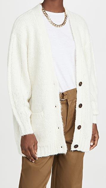 Alpaca Wool Grandpa Cardigan