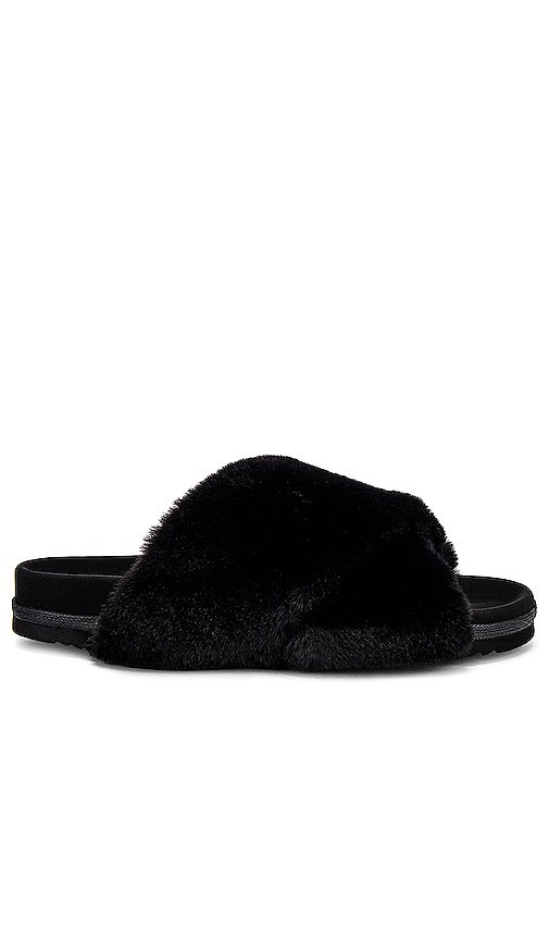 Mini Cloud Faux Fur Slippers