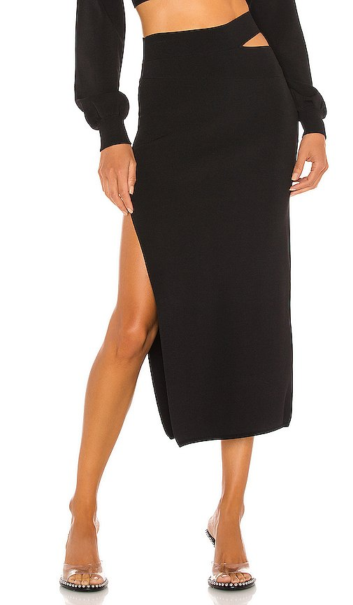 x REVOLVE Cut Out Knit Midi Skirt