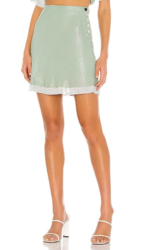 The Olivie Glo Mesh Mini Skirt