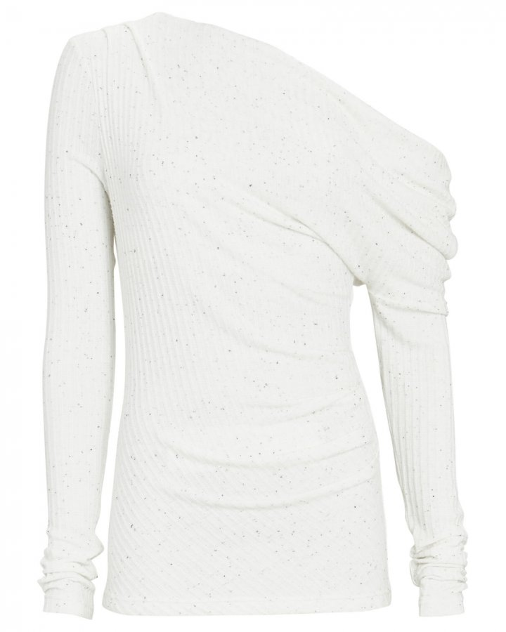 Hawdon One-Shoulder Rib Knit Top