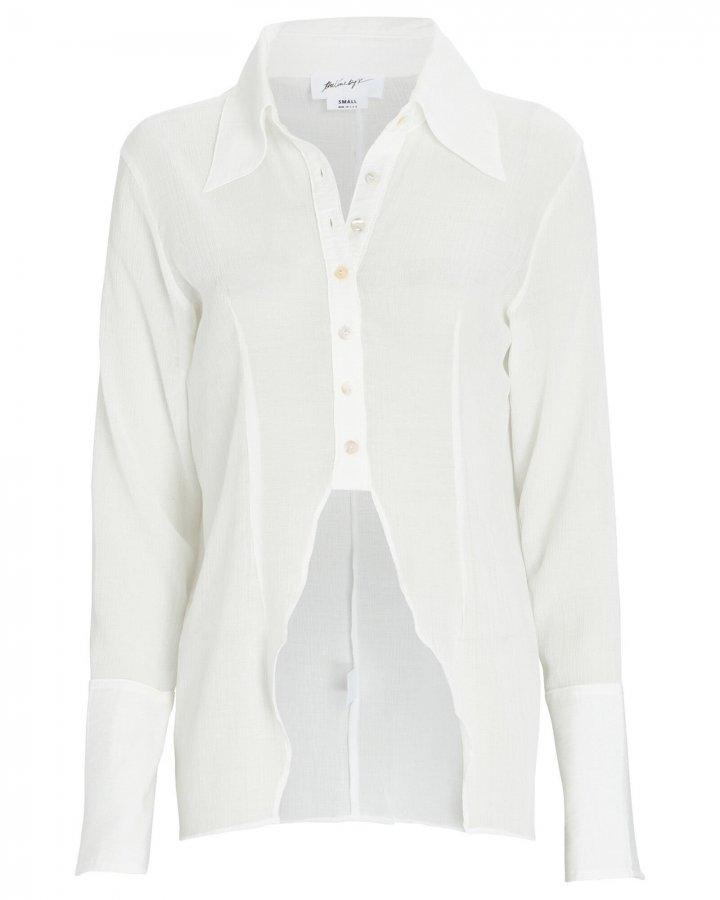 Leomie High-Low Button-Down Shirt