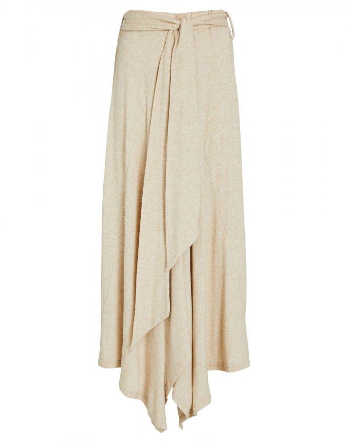 Carla Tie-Waist Midi Skirt