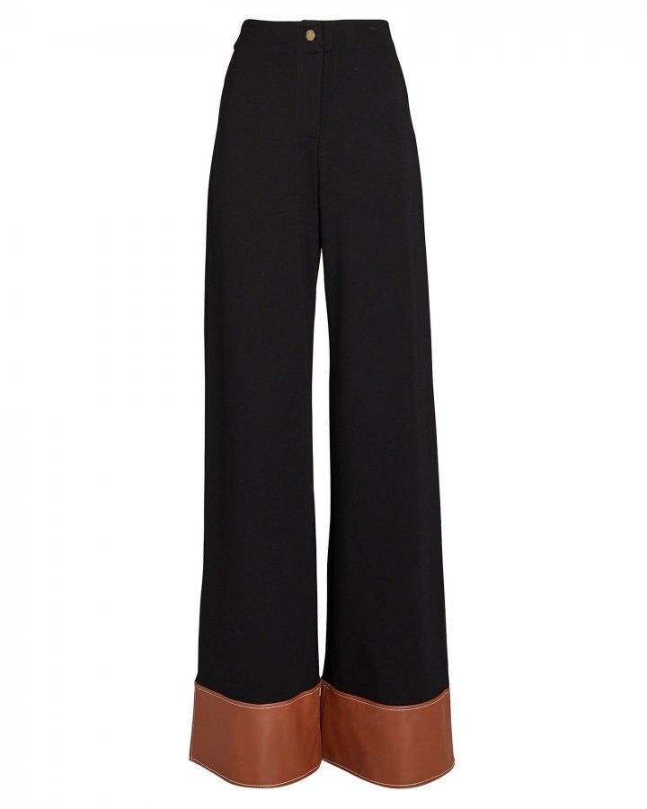 Dime Vegan Leather-Trimmed Pants