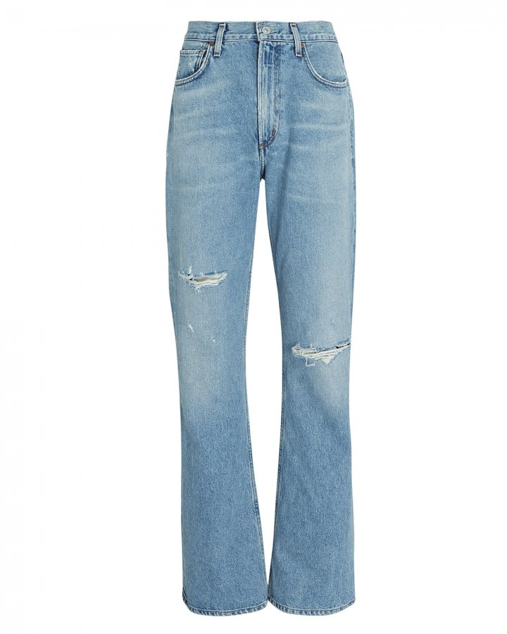 Libby Distressed Bootcut Jeans