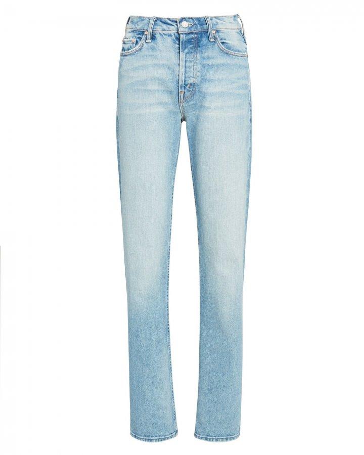 Rider High-Rise Straight-Leg Jeans