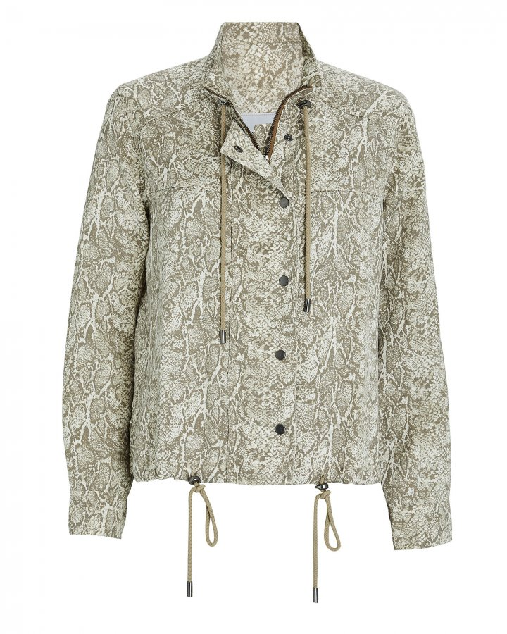 Tennessee Snake Print Utility Jacket