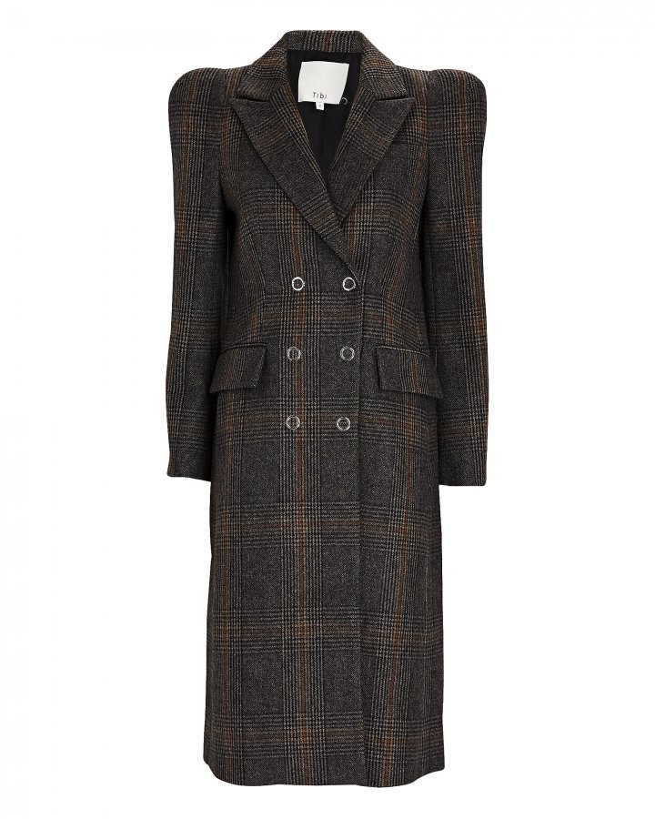Mats Plaid Double-Breasted Coat