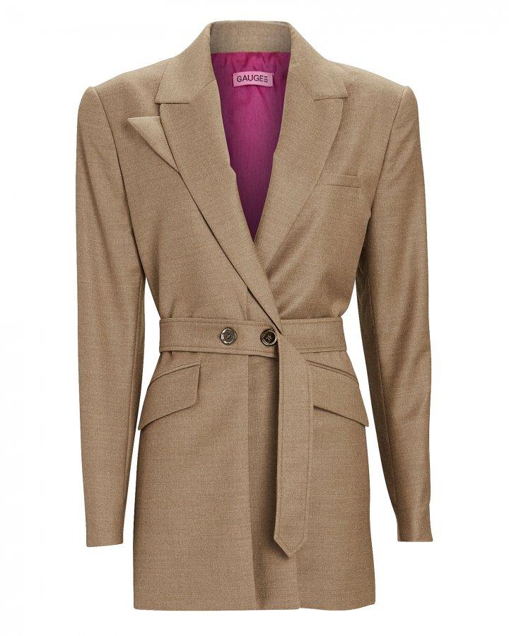 Mazat Belted Wool-Cashmere Blazer