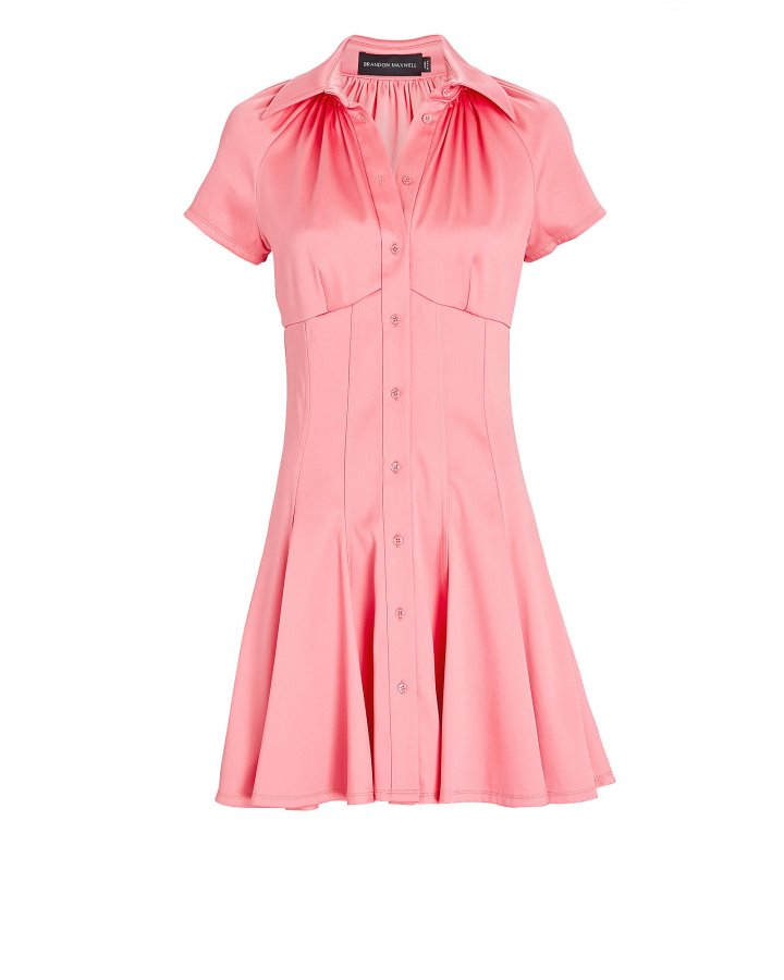 Poplin Mini Shirt Dress