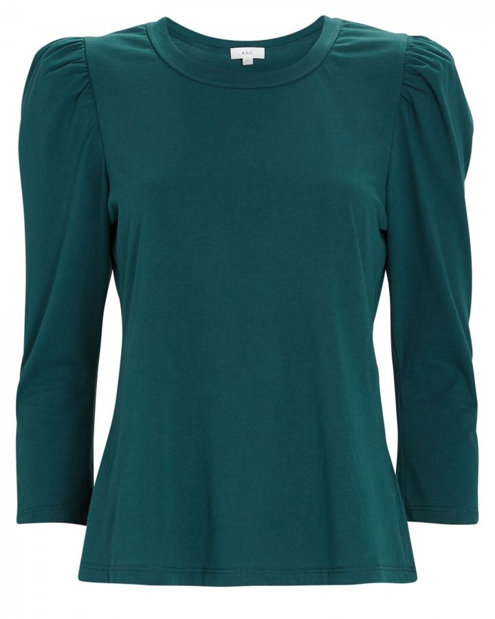 Karlie Puff Sleeve Cotton T-Shirt