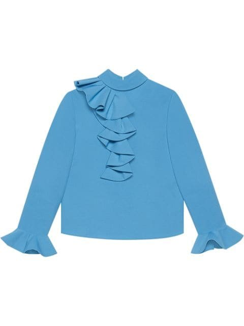 Gucci Ruffled Bell Sleeve Blouse