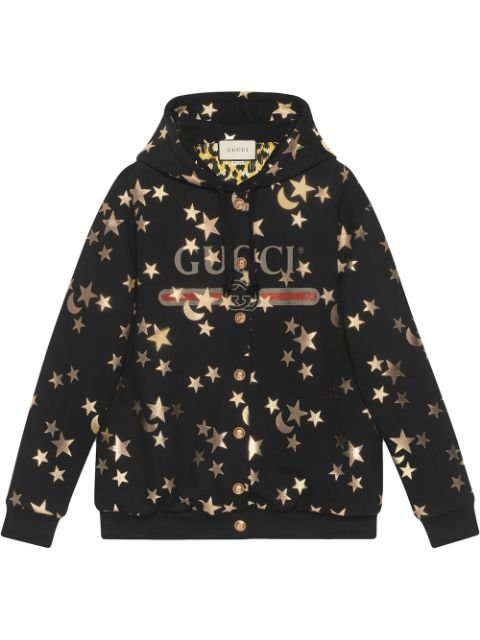 Gucci Stars And Moon Print Hoodie Aw19 | Farfetch.Com
