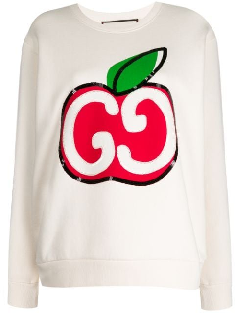 Gucci Gg Apple Sweatshirt Aw20 | Farfetch.Com