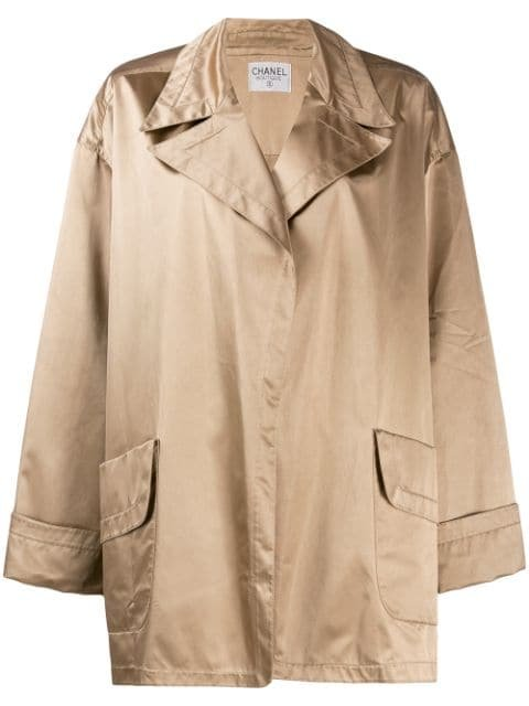 Chanel Pre-Owned 1980\'S Loose Robe Style Jacket Vintage | Farfetch.Com